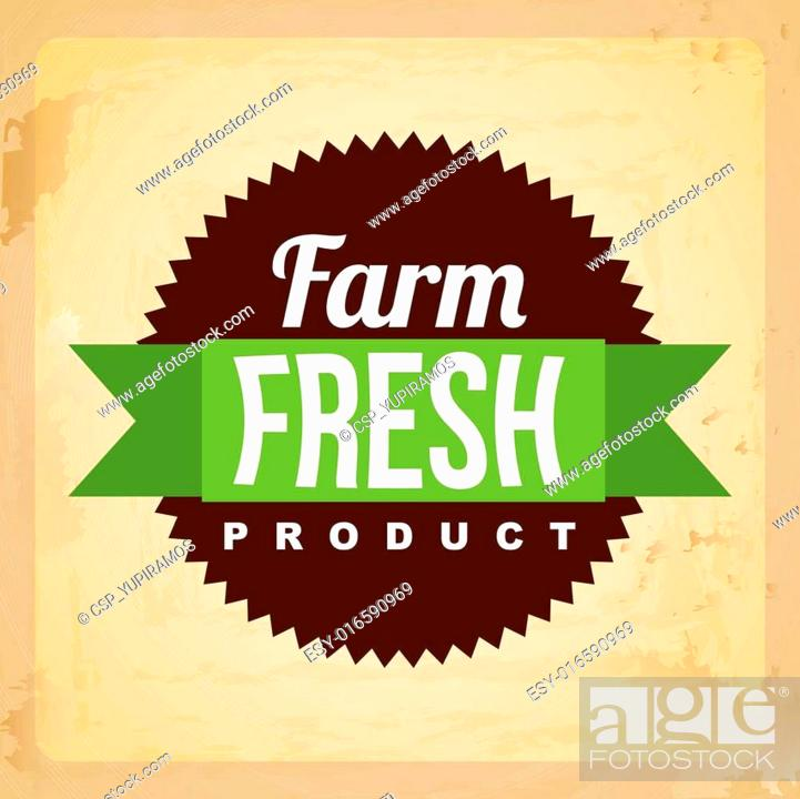 Stock Vector: fresh farm label.