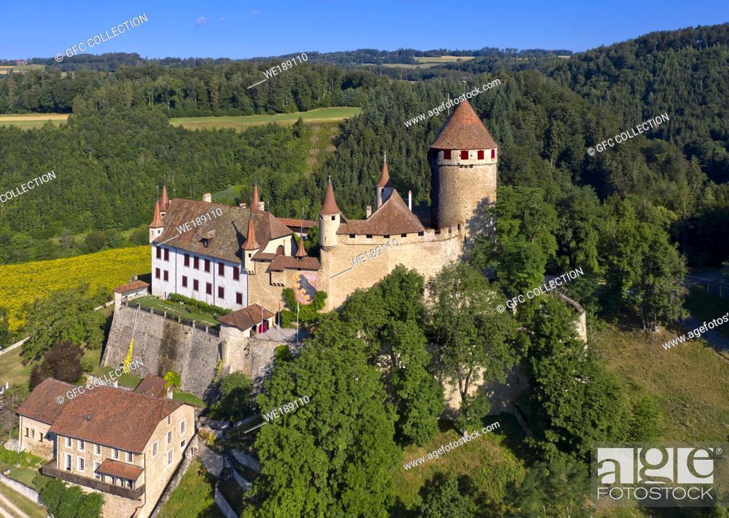 Photo de stock: Lucens Castle, Chateau de Lucens, Lucens, Vaud, Switzerland.