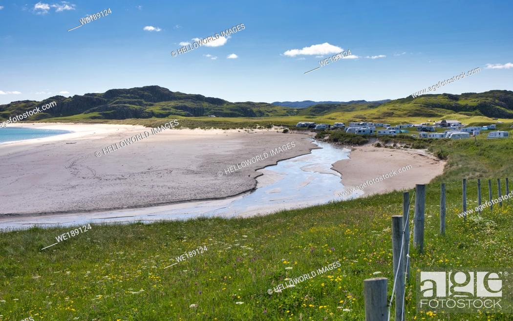 Stock Photo: Beach, Isle of Lewis, Outer Hebrides.