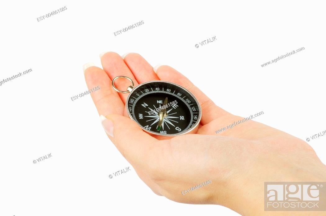 Imagen: Compass in hand.