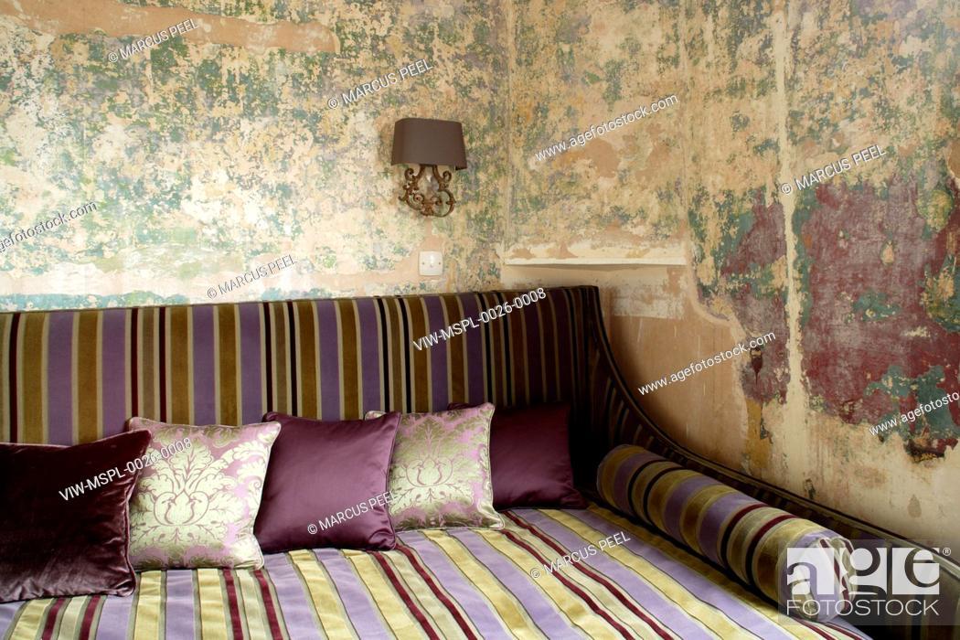 Stock Photo Rough Luxe London United Kingdom Architect Rabih Hage 2008 Bedroom