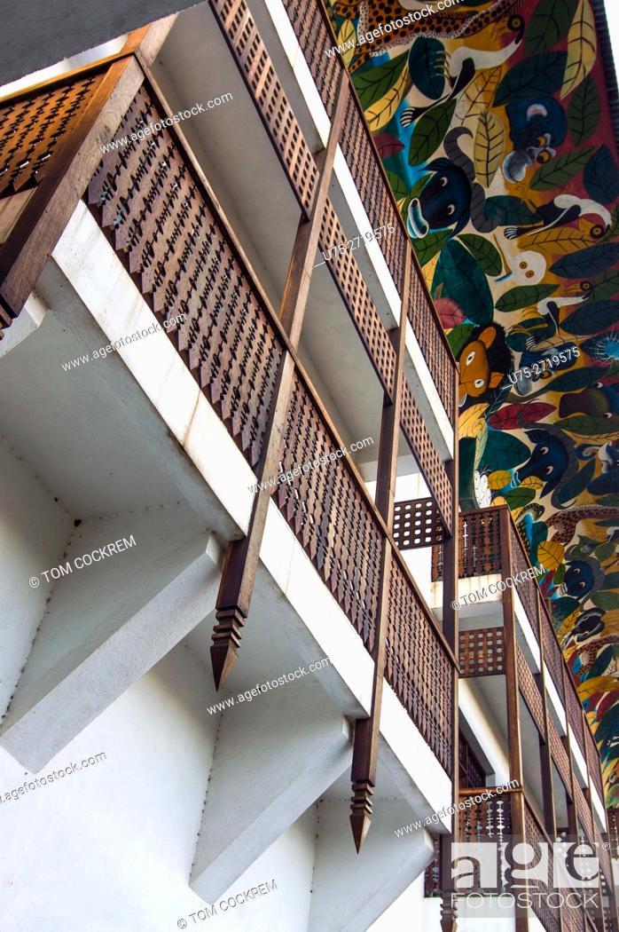 Stock Photo: Architectural features, Hotel Slipway, Dar-es-Salaam, Tanzania.