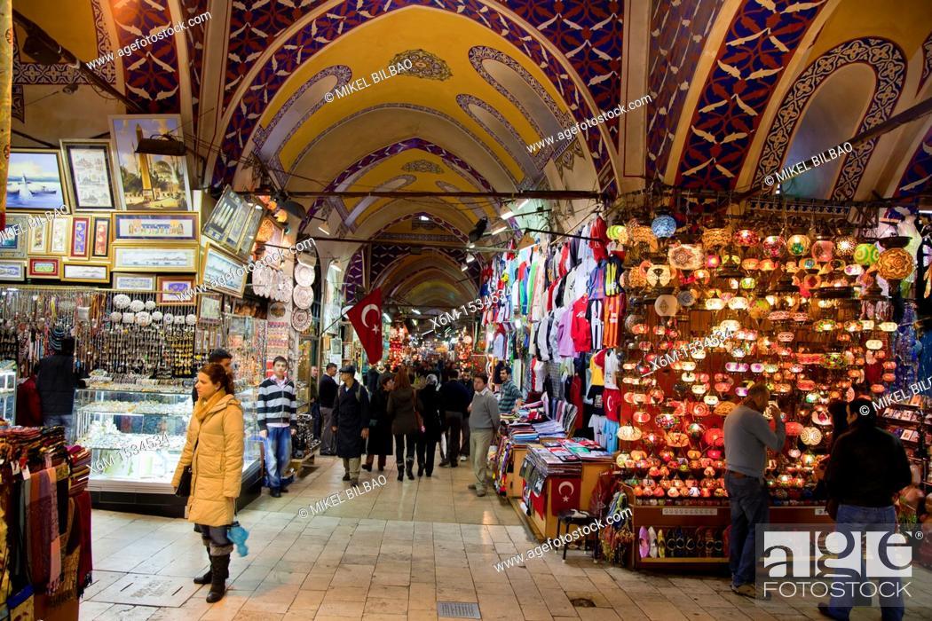 Stock Photo: Lanterns shop  Grand Bazaar  Istanbul, Turkey.
