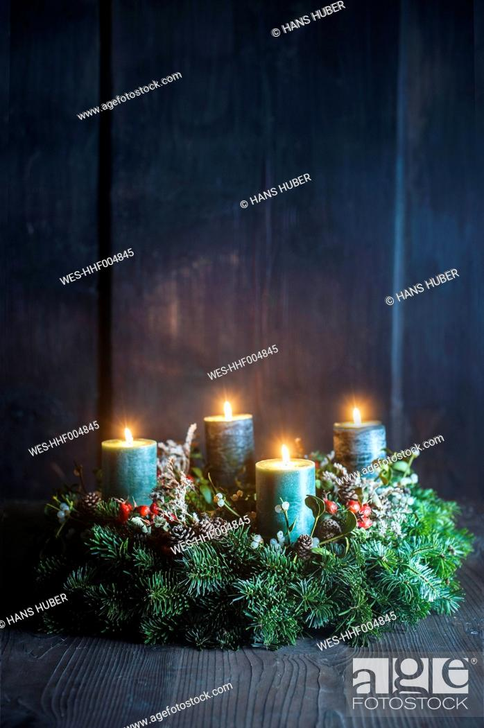 Stock Photo: Advent wreath.