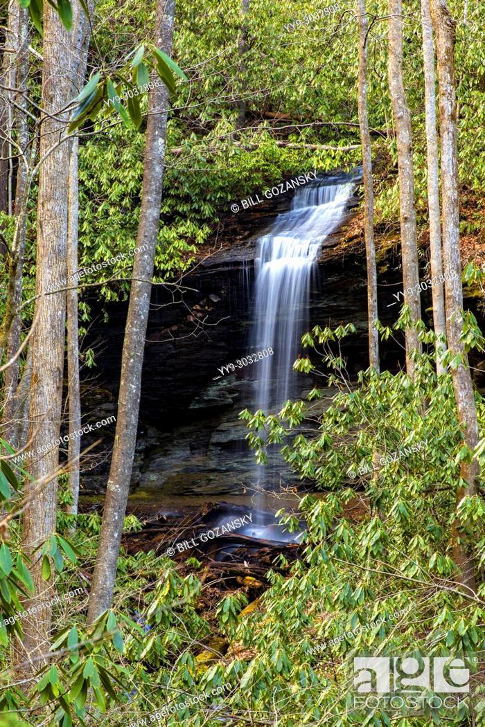 Stock Photo: Little Moore Cove Falls - Pisgah National Forest, Brevard, North Carolina, USA.