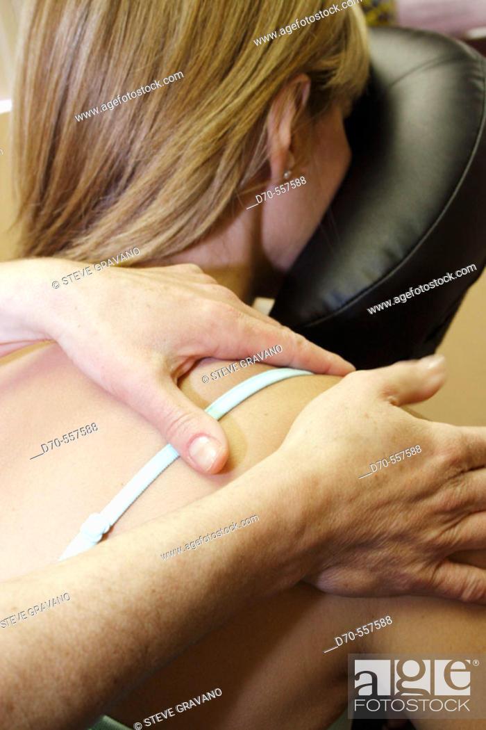 Photo de stock: Massage therapy.