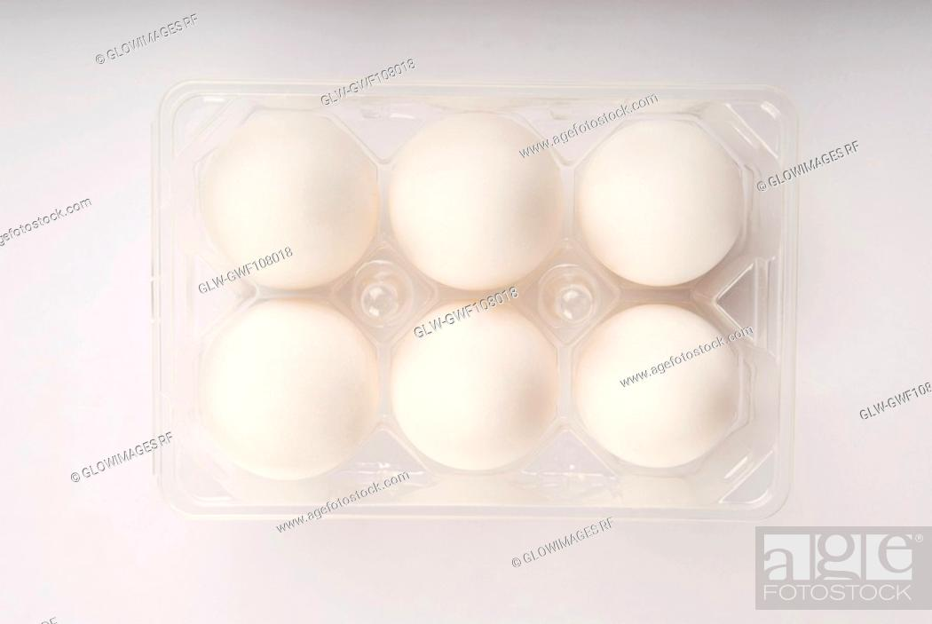 Stock Photo: Close-up of an egg carton.