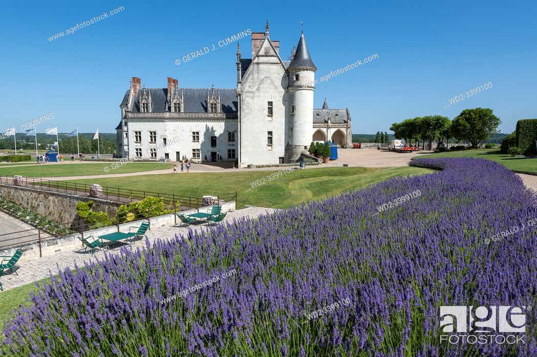Stock Photo: France The Royal Residence of Amboise : 2018, An historic monument in the Loire Valley and resting place of the artist Leonard de Vinci and is now a UNESCO.