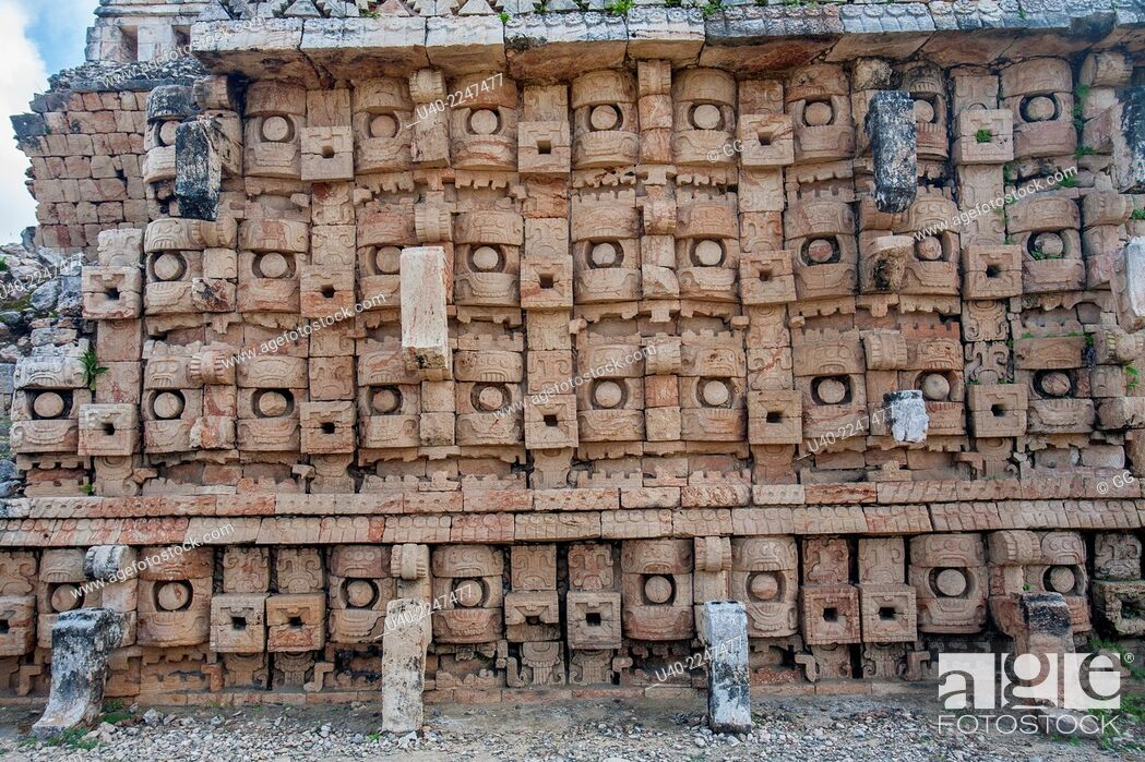 Stock Photo: Mexico, Kabah ruins.