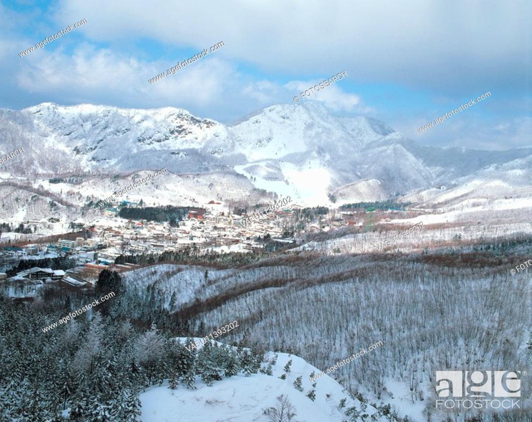 Stock Photo: scenery, landscape, winter, snowscape, mountain, scenic, nature.
