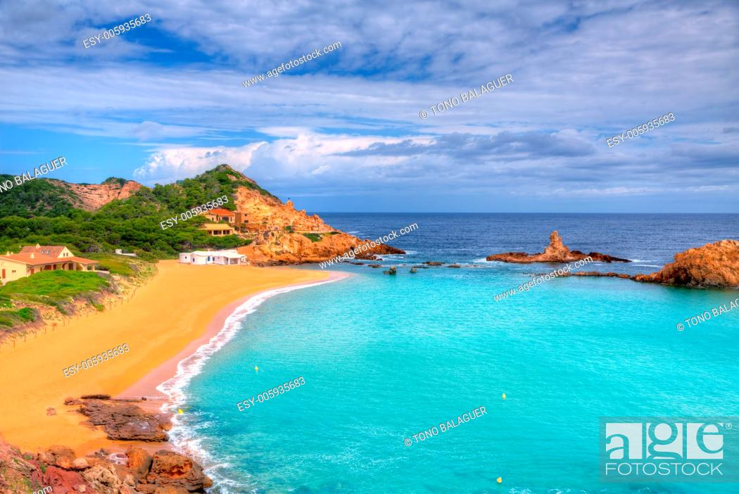 Stock Photo: Cala Pregonda in Menorca at Balearic islands es Mercadal.