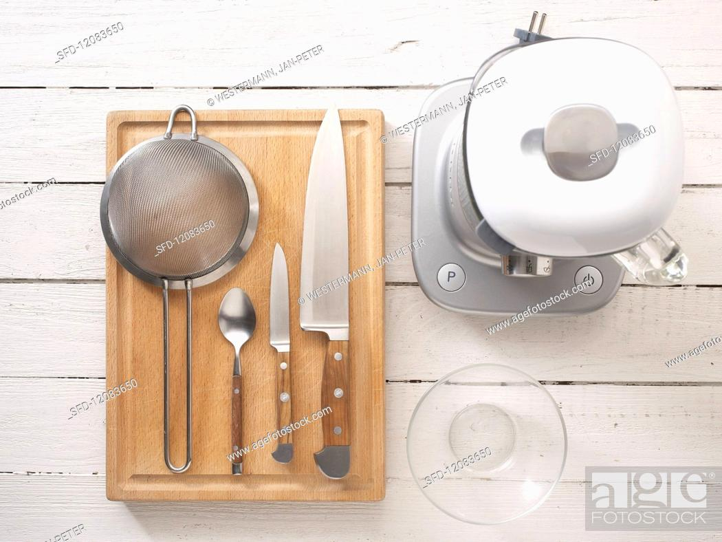 Stock Photo: Utensils for smoothies.
