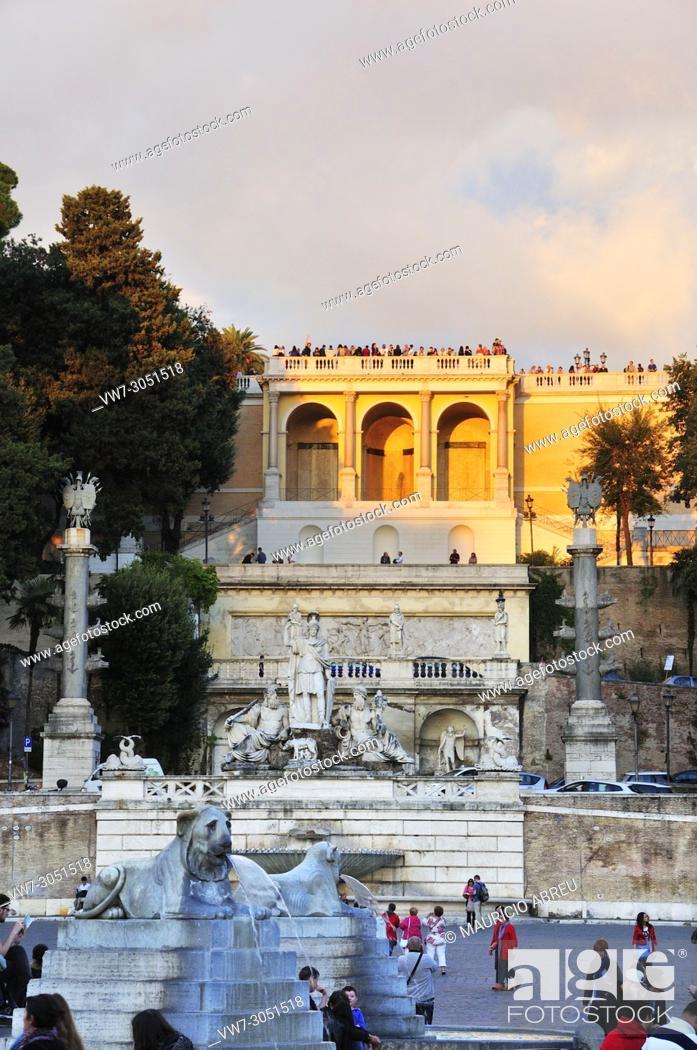 Fountain Of Goddess Roma Fontana Della Dea Di Roma And
