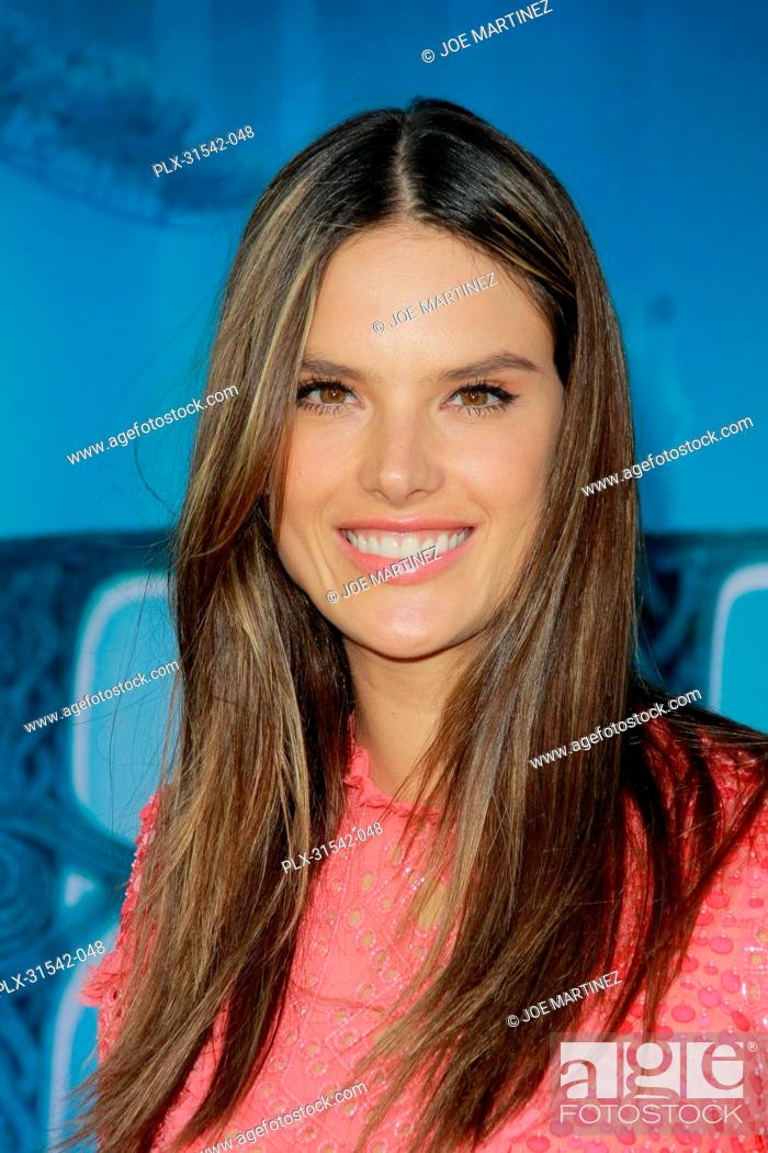 Stock Photo: Alessandra Ambrosio at the World Premiere of Disney Pixar's Brave. Arrivals held at Dolby Theatre in Hollywood, CA, June 18, 2012.
