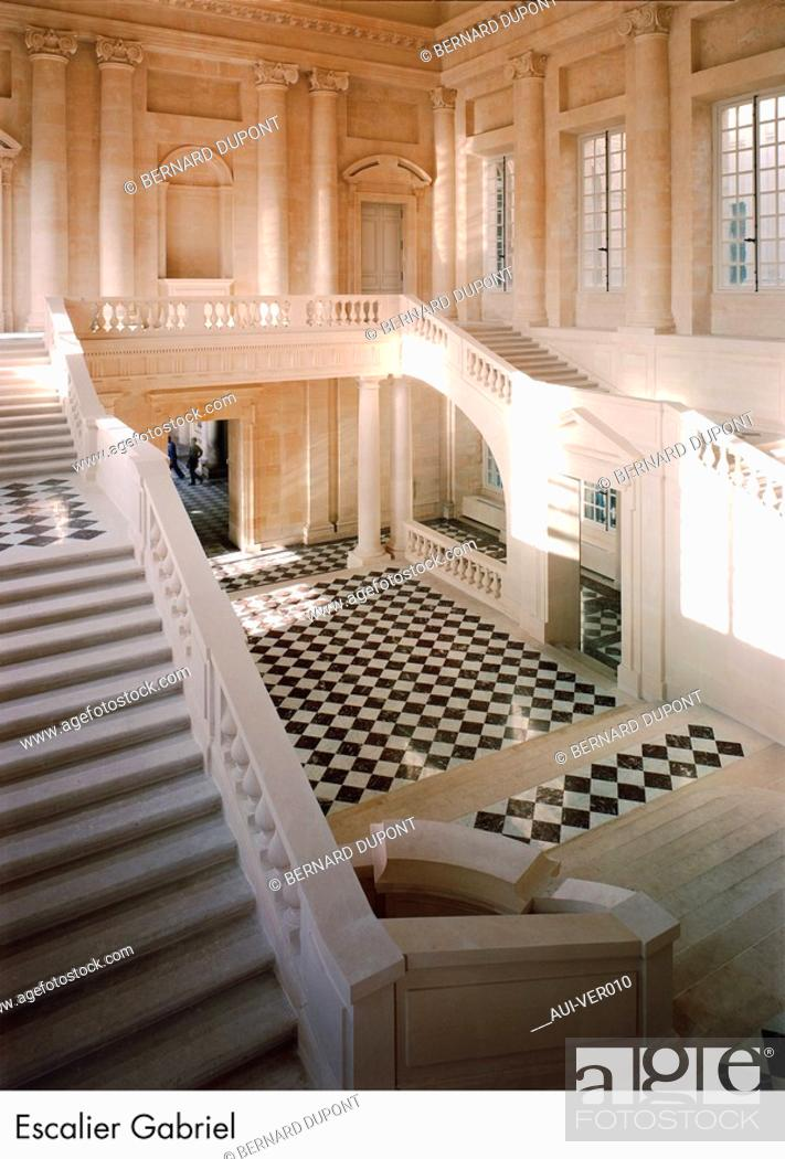 Stock Photo: Palace of Versailles - Escalier Gabriel.