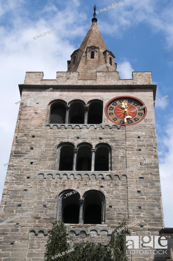 Stock Photo: 15th c. Notre Dame du Glarier Cathedral in Sion, Valais / Wallis, Switzerland.