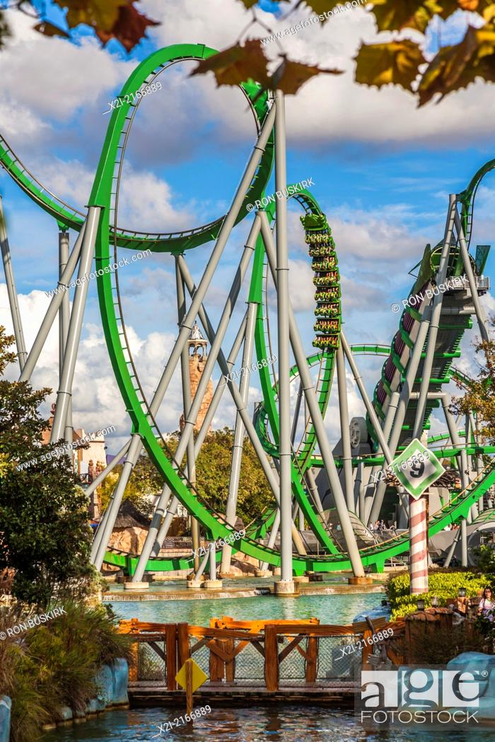 The Incredible Hulk Roller Coaster In Marvel Super Hero Island At Universal Studios Islands Of Stock Photo Picture And Rights Managed Image Pic X2i 2166889 Agefotostock