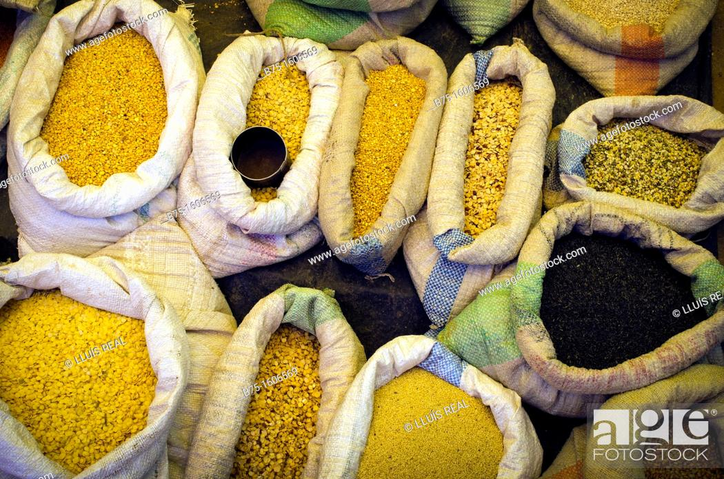 Stock Photo: market in India, Asia, Asia, Rajasthan.