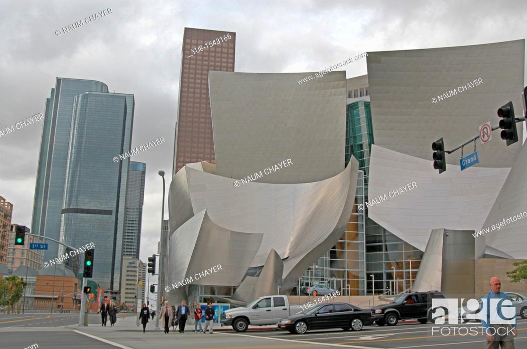 Imagen: The Walt Disney Concert Hall, California, LA, Los Angeles, North America, USA.