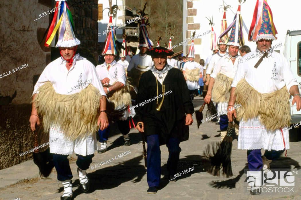 Stock Photo: 'El Zamparzat', carnival. Zubieta. Navarra. Spain.