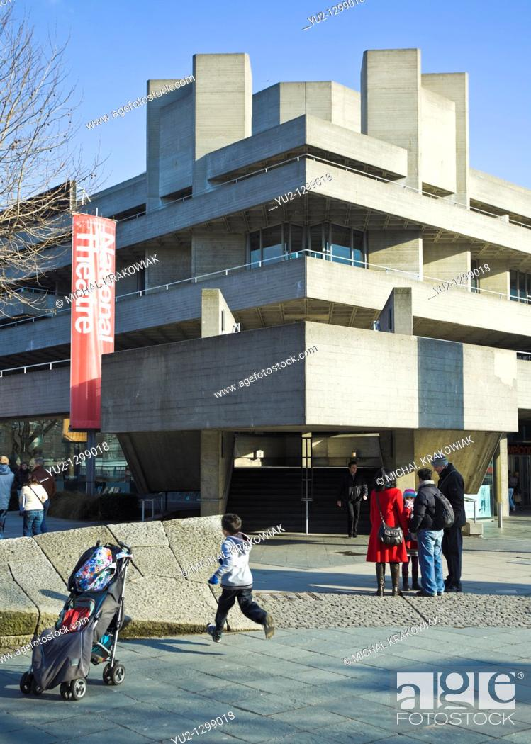 Stock Photo: National Theatre in London.