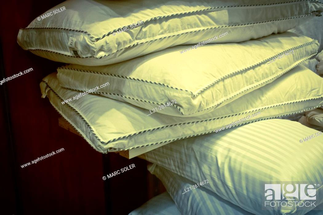 Stock Photo: Stack of pillows.