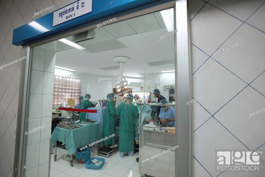 Stock Photo: Cardiac surgery in Cambodia, Phnom Penh.
