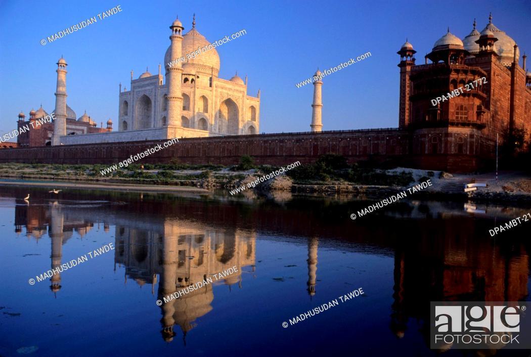 Stock Photo: Taj Mahal , Agra , Uttar Pradesh , India.