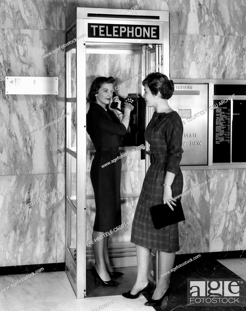 A new model phone booth introduced by Aluminum Company of