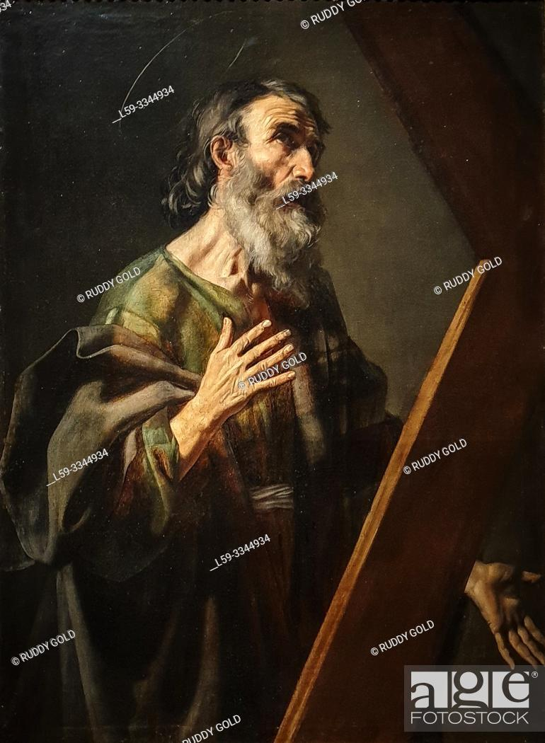 Imagen: 'Saint Andrew', 1616, Nicolas Tournier (1590-1639).