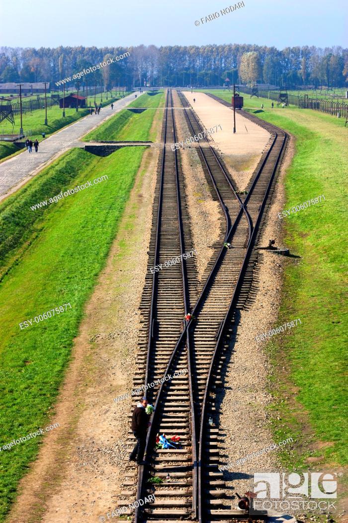 Stock Photo: Auschwitz-Birkenau Concentration Camp.