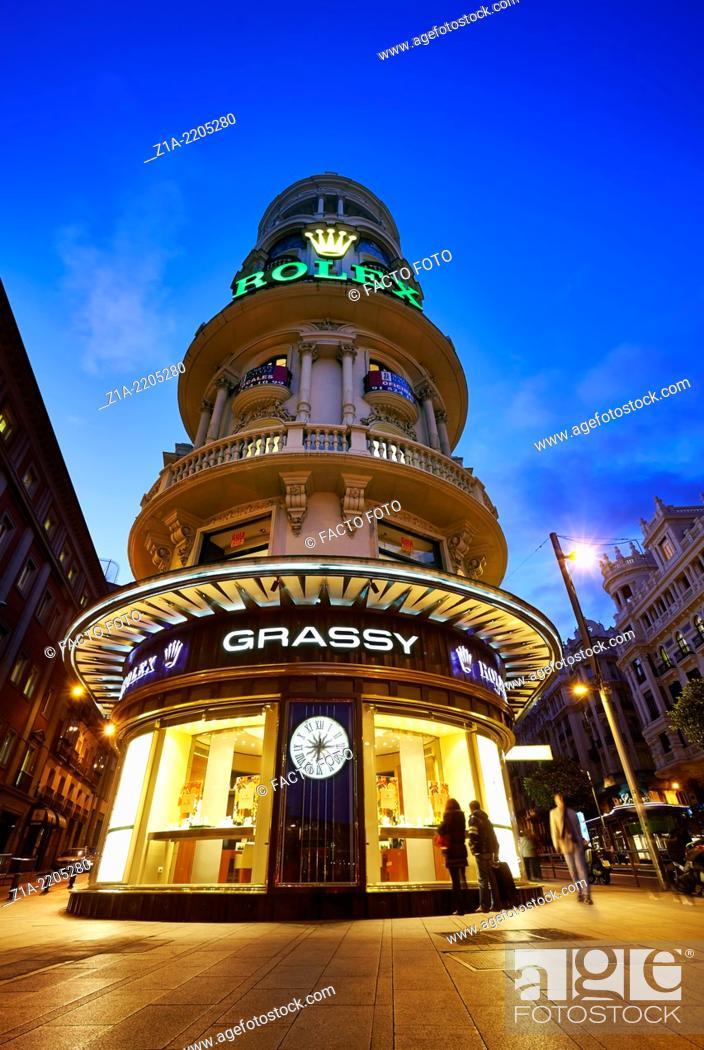 Imagen: Edificio Grassy, located in Gran Via avenue. Madrid. Spain.