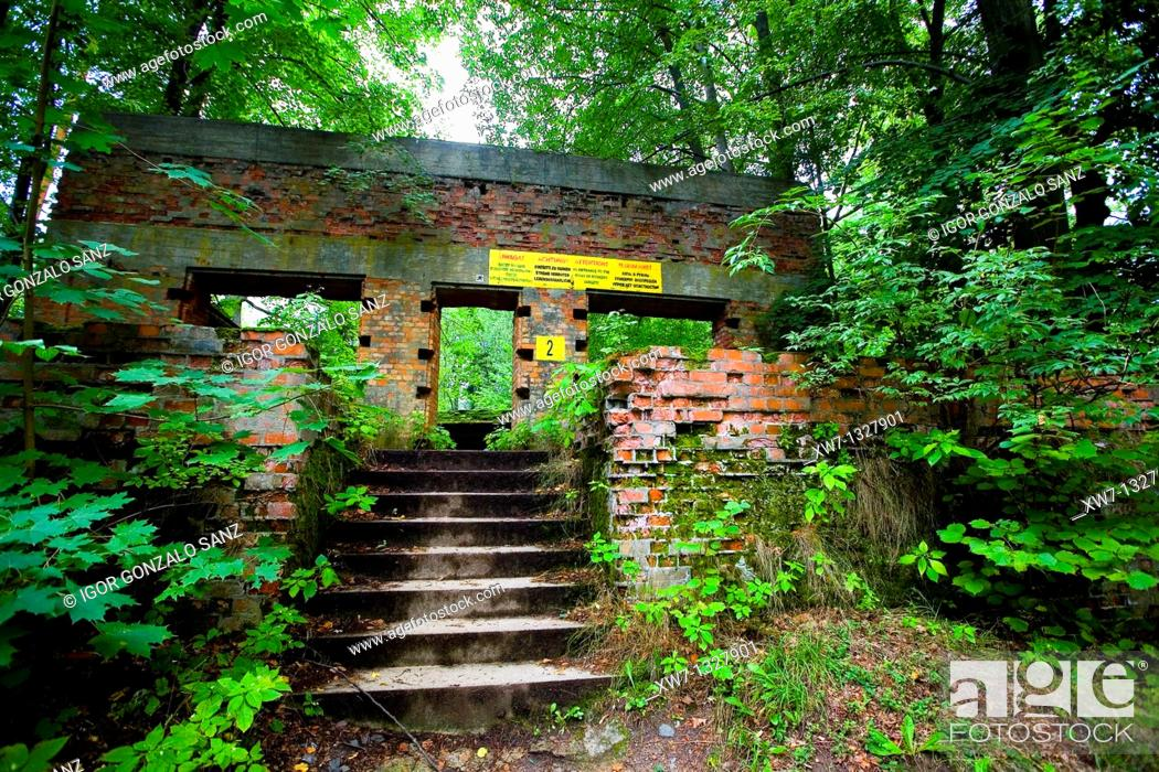 Stock Photo: The Wolf's Lair, Hitler's military headquarters during the Second World War. Ketryzn, Poland.