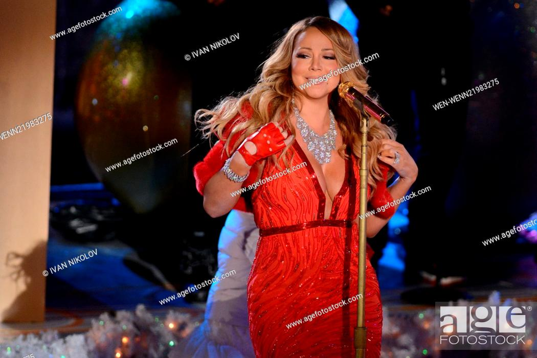 Stock Photo: 82nd Annual Rockefeller Christmas Tree Lighting Ceremony  Featuring: Mariah Carey Where: - 82nd Annual Rockefeller Christmas Tree Lighting Ceremony Featuring