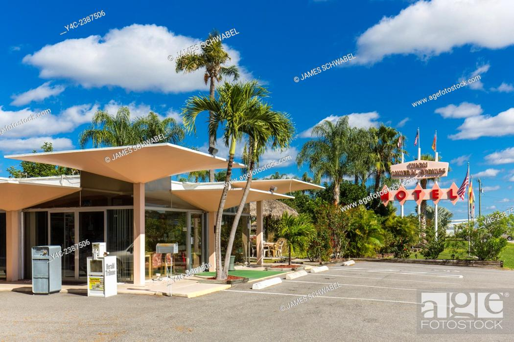 Mushroom Champagne Glass Style Roof On Warm Mineral Springs Motel In
