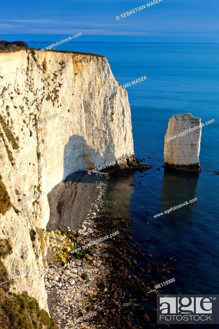 Stock Photo: The Pinnacles on Dorset's Jurassic Coast, Studland, Dorset, United Kingdom, Europe.