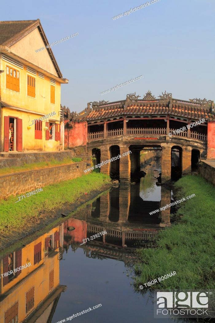 Stock Photo: Vietnam, Hoi An, Japanese Covered Bridge, .