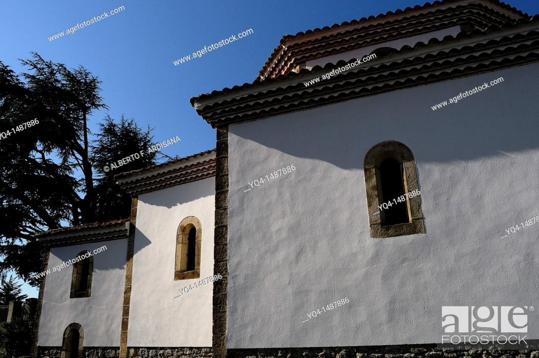 Stock Photo: Church Door Vidiago, Asturias, Spain.