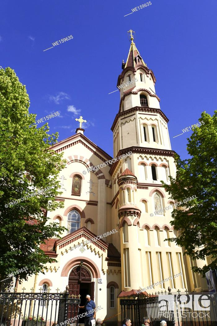 Stock Photo: St. Nicholas's Russian Orthodox Church in the old town, Vilnius, Lithuania.