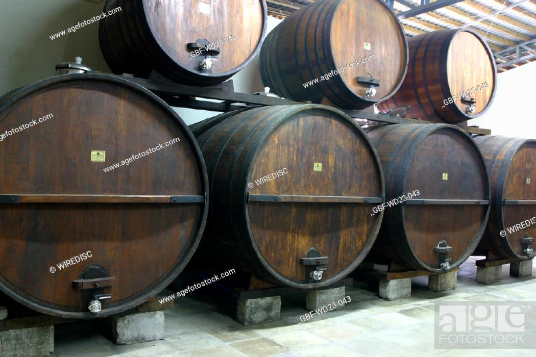 Stock Photo: Wine Cellar, wine, agriculture, Brazil.
