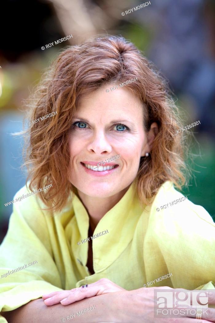 Stock Photo: Portrait middle age woman.