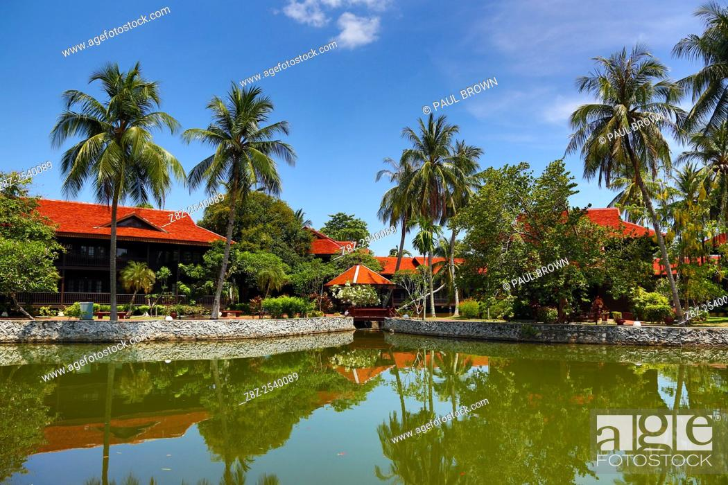 Stock Photo: The Meritus Pelangi Beach Resort Hotel in Pantai Cenang, Langkawi, Malaysia.