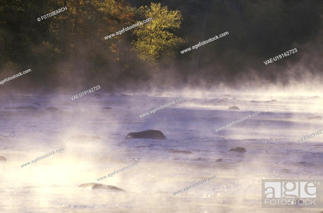 Stock Photo: Housatonic River with Morning Mist.