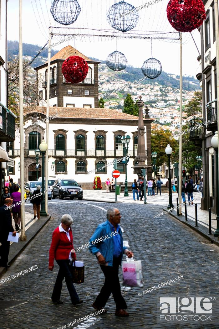 Stock Photo: Walk in the Sreets of Funchal, Madeira, Portugal, Europe.
