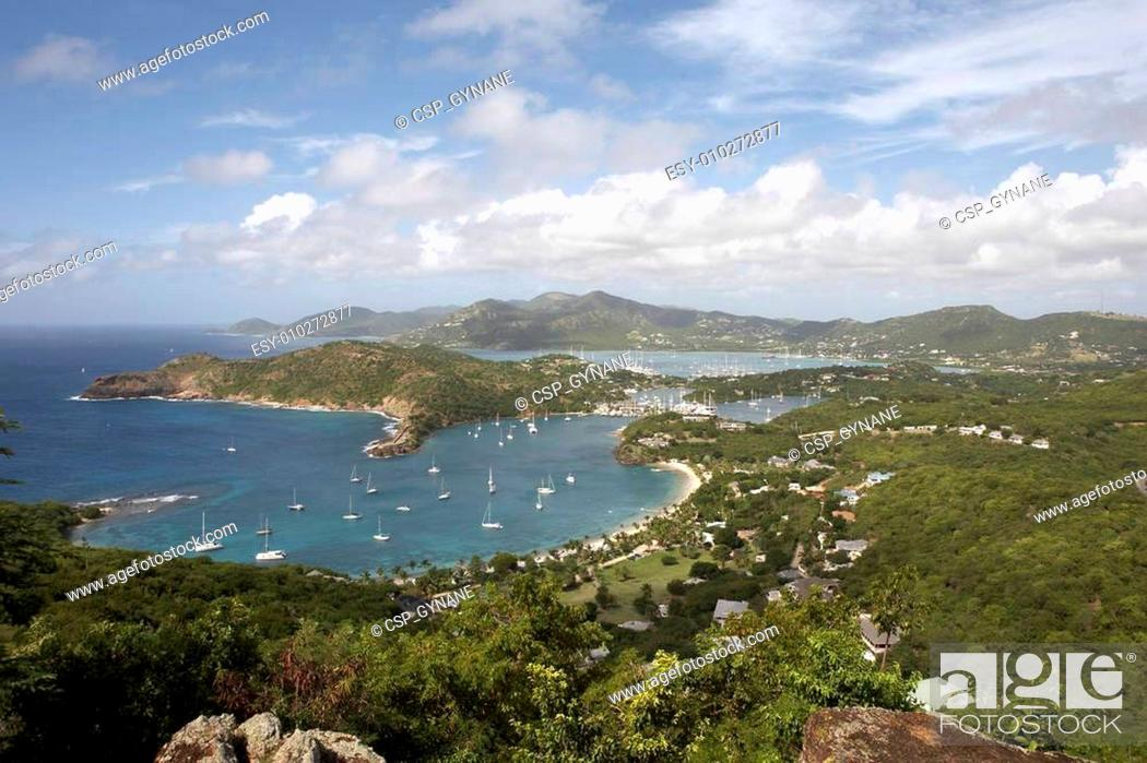 Stock Photo: view of falmouth bay.
