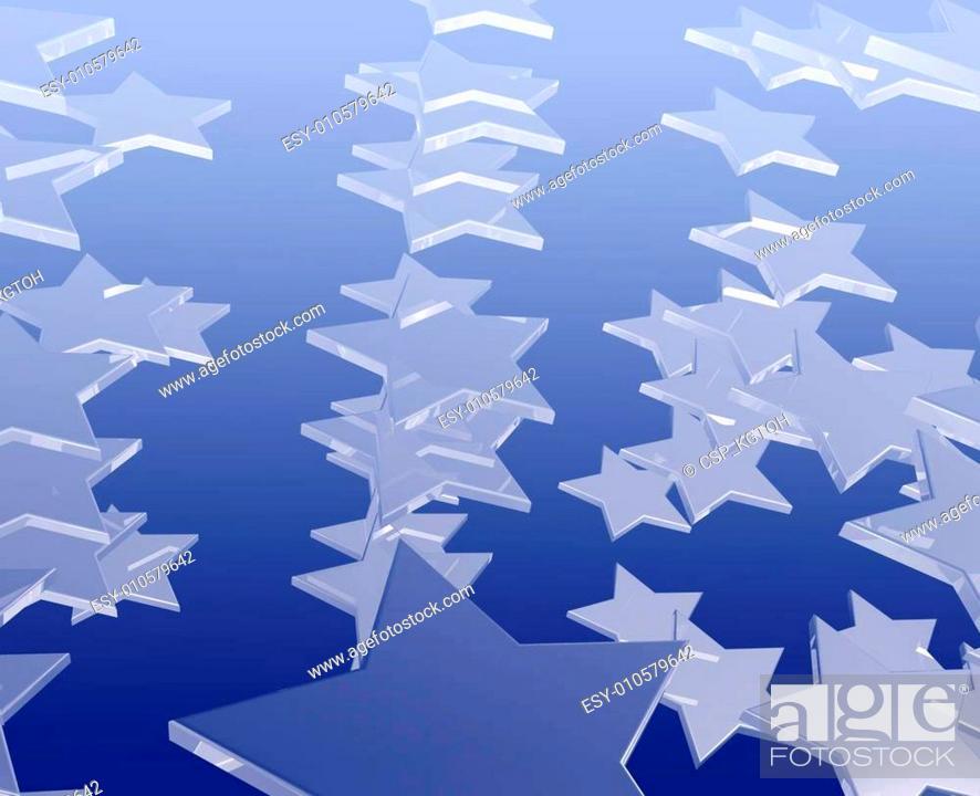 Stock Photo: Many flying stars.