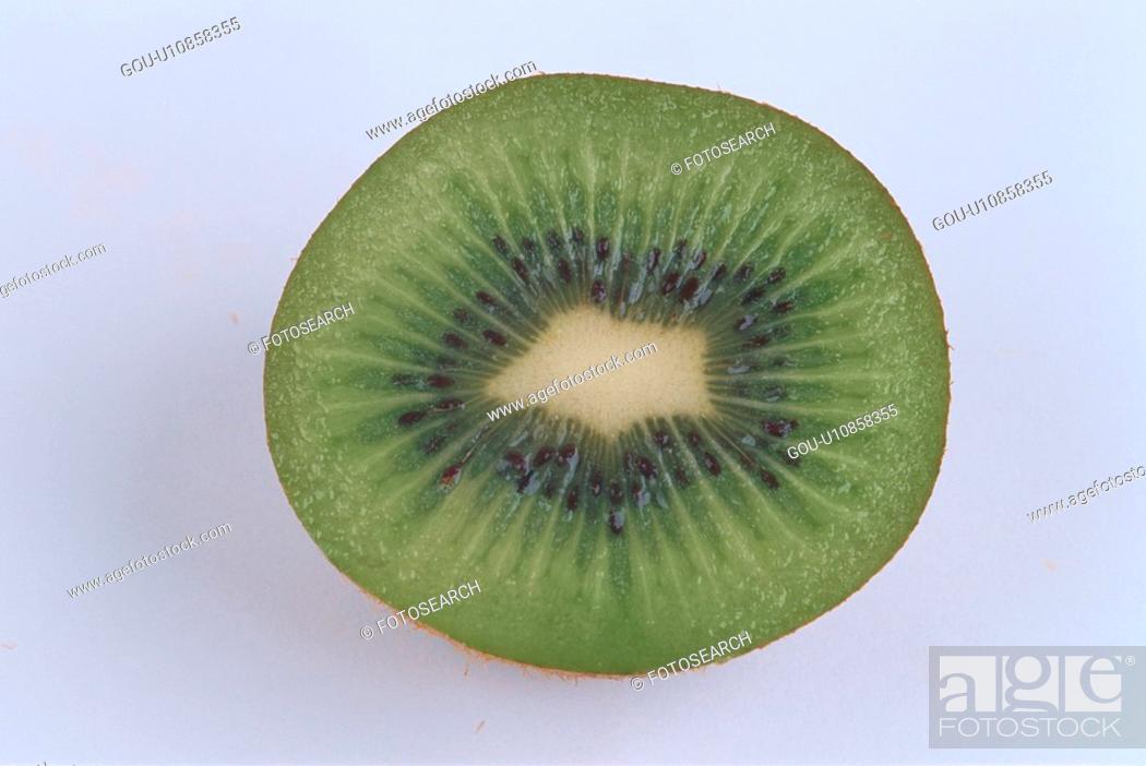 Stock Photo: Half Of Kiwi Fruit.