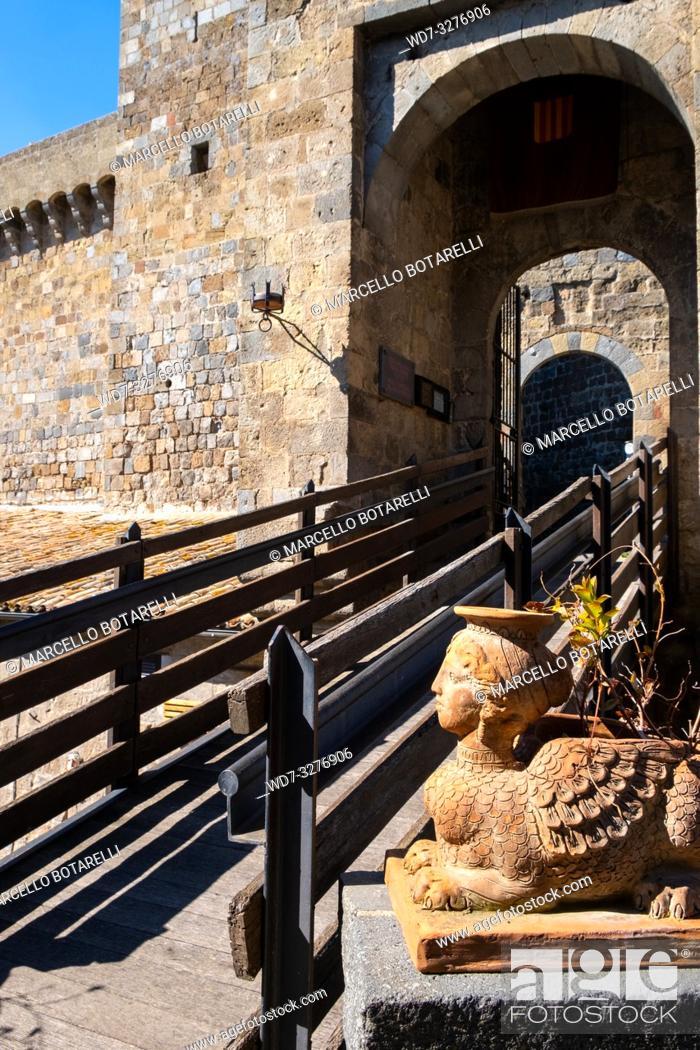 Stock Photo: Rocca Monaldeschi della Cervara, castle in Bolsena, near Bolsena lake, Lazio, Italy.