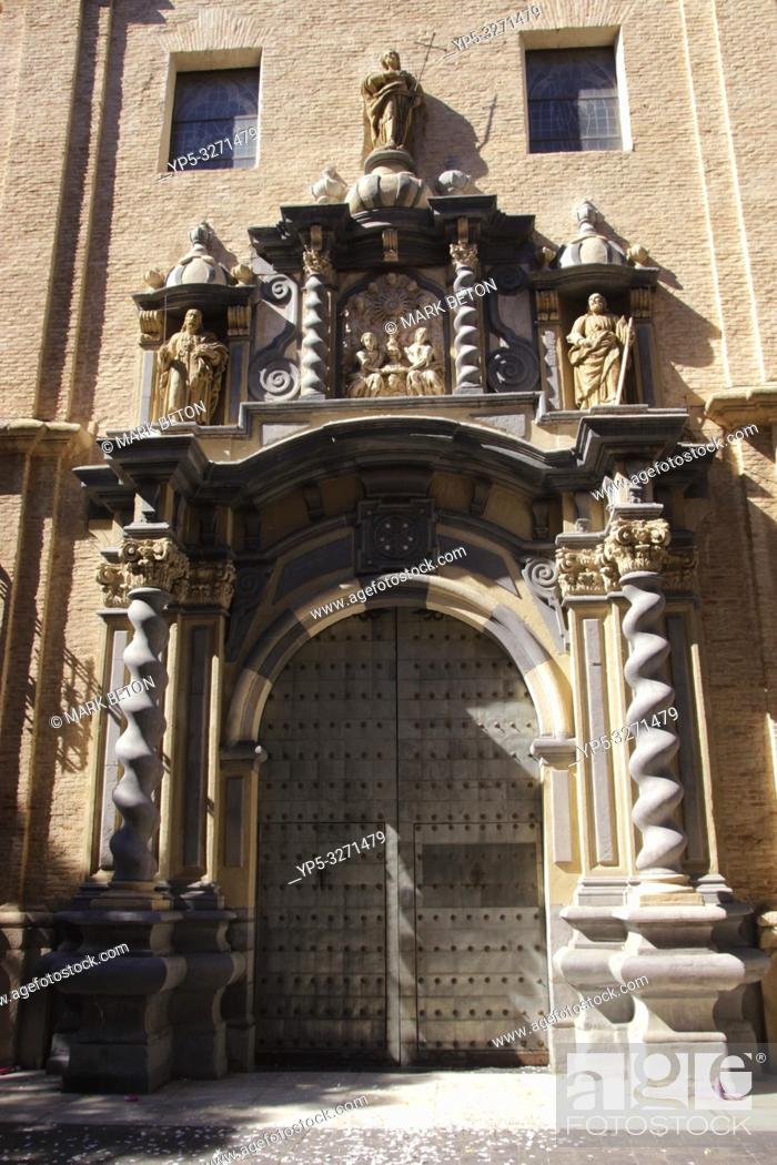 Stock Photo: Parroquial de San Felipe y Santiago el Menor Church Zaragoza Spain.