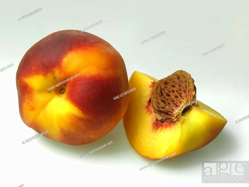 Stock Photo: Peach, Peaches, Fruits, Fruit, Juice, Drink, Sweet.
